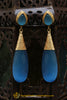 Gold Plated Blue Earrings By Punjabi Traditional Jewellery