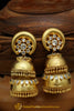 Gold Finished Double Jhumki American Diamond Earrings By Punjabi Traditional Jewellery