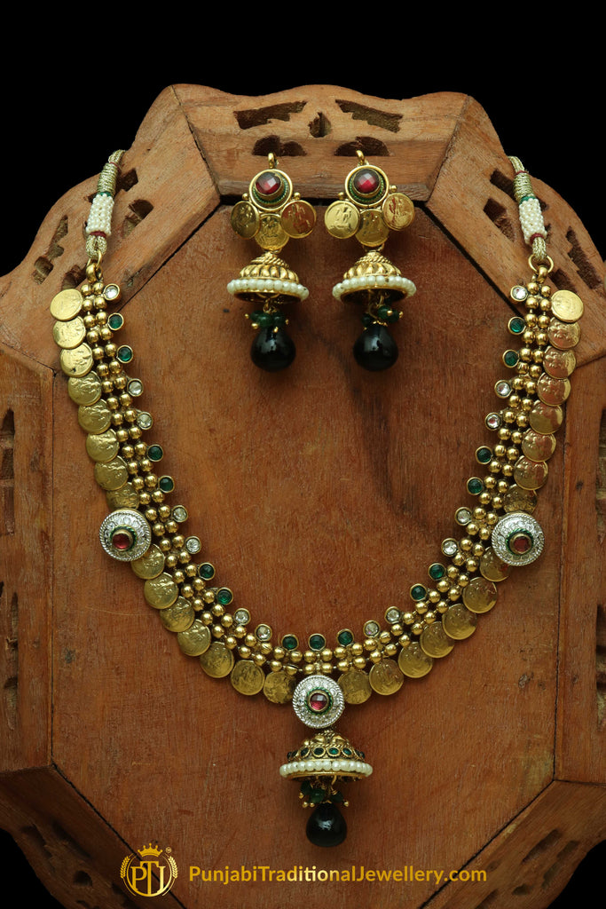 Gold Plated Jodha Necklace Set By Punjabi Traditional Jewellery