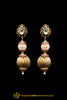 Antique Gold Kundan Earrings By Punjabi Traditional Jewellery