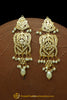 Golden Jadau Pearl Earrings By Punjabi Traditional Jewellery