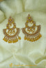 Yellow Polki Earrings By Punjabi Traditional Jewellery
