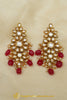 Rubby Kundan Earrings By Punjabi Traditional Jewellery