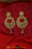 Golden Polki Earrings By Punjabi Traditional Jewellery