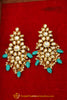 Firozi Kundan Earrings By Punjabi Traditional Jewellery
