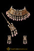 Pink Pearl Kundan Necklace Set Punjabi Traditional Jewellery