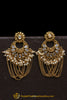 Golden Plated Polki Earrings By Punjabi Traditional Jewellery