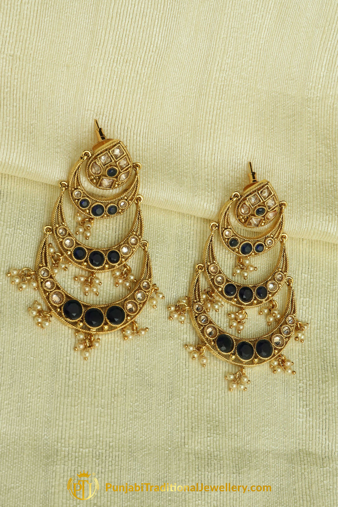 Blue Earrings By Punjabi Traditional Jewellery