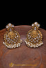 Pearl With Polki Earrings By Punjabi Traditional Jewellery