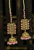 Pink Polki Sahare Jhumki Earrings By Punjabi Traditional Jewellery
