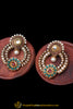 Green Red Polki Pearl Earrings By Punjabi Traditional Jewellery
