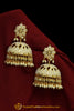 Golden Jadau Jhumki Pearl Earrings By Punjabi Traditional Jewellery