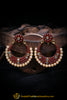 Pearl Red Earrings By Punjabi Traditional Jewellery