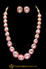 Pink Kundan Meena Necklace Set By Punjabi Taditional Jewellery