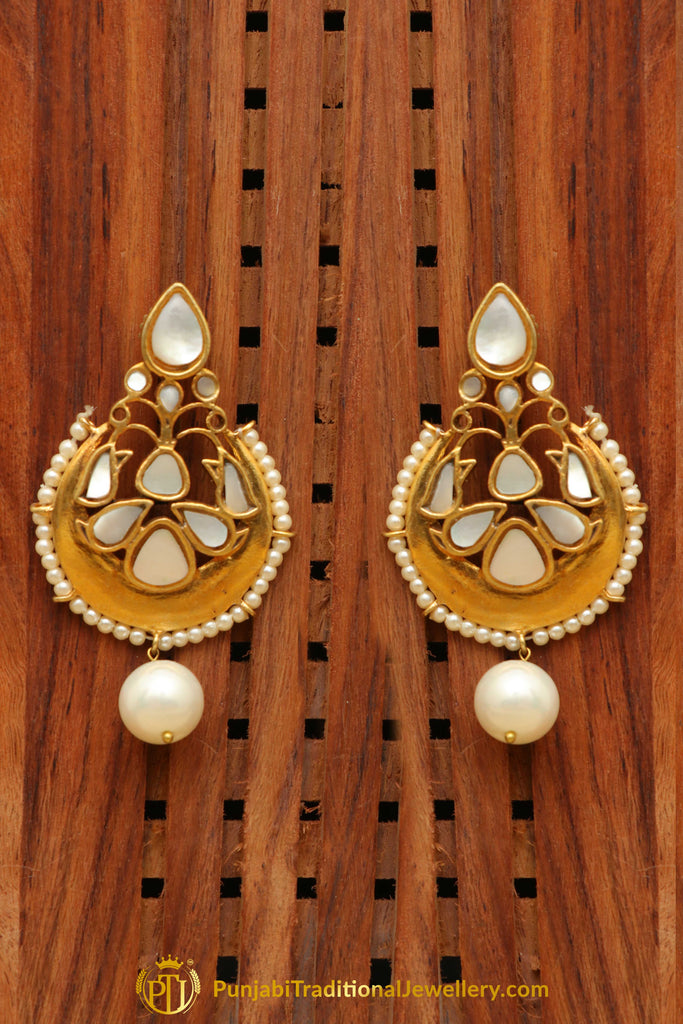 Gold Finished Earrings By Punjabi Traditional Jewellery