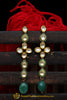 Green Kundan Earrings By Punjabi Traditional Jewellery