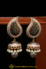 Black Pearl, Jhumki & Antique Gold Earrings By Punjabi Traditional Jewellery