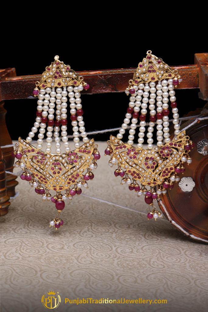 Arzoo Rani Jadau Earrings By Punjabi Traditional Jewellery