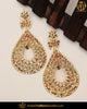 Gold Finished Navratan Jadau Pearl Earrings | Punjabi Traditional Jewellery Exclusive