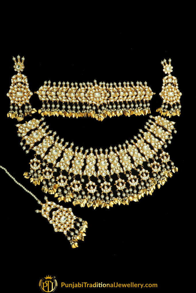 Fakhirah Kundan Pippal Patti only Choker | Punjabi Traditional Jewellery Exclusive
