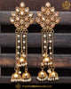 Gold Finished Champagne Stone Earrings | Punjabi Traditional Jewellery Exclusive