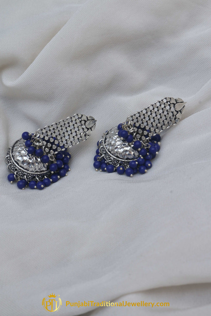 Silver Plated Earrings By Punjabi Traditional Jewellery