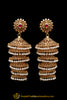 Maroon Pearl, Jhumki & Antique Gold Earrings By Punjabi Traditional Jewellery