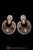 Purple Polki Pearl Earrings By Punjabi Traditional Jewellery