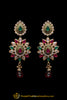 Green Red Meena Kundan Necklace Set By Punjabi Traditional Jewellery