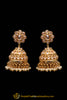 Polki, Jhumki & Champagne Earrings By Punjabi Traditional Jewellery