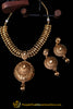 Lihaaz Antique Gold Necklace Set By Punjabi Traditional Jewellery