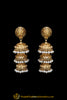 Golden Jhumki Gold Plated Earrings By Punjabi Traditional Jewellery