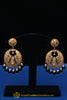 Black Pearl Gold Plated Earrings By Punjabi Traditional Jewellery
