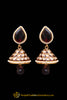 Red Purple Polki Jhumki Earrings By Punjabi Traditional Jewellery