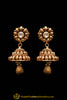 Golden Antique Gold Jhumki Earrings By Punjabi Traditional Jewellery