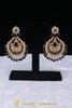Black Kundan Earrings By Punjabi Traditional Jewellery