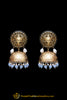 Blue Jhumki Gold Plated Earrings By Punjabi Traditional Jewellery
