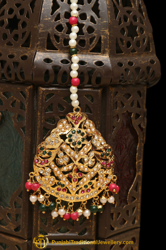 Multi Jadau Tikka By Punjabi Traditional Jewellery