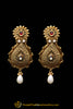 Red Gold Plated Polki Earrings By Punjabi Traditional Jewellery
