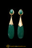 Gold Plated Green Earrings By Punjabi Traditional Jewellery