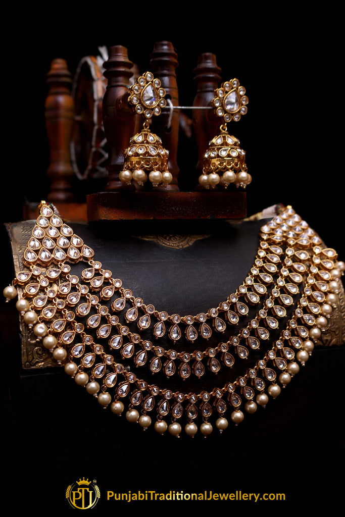 Shiddat Polki Nacklace Set By Punjabi Traditional Jewellery