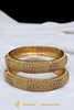 Gold Finished Champagne Stone Bangle Karra By Punjabi Traditional Jewellery