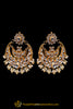 Kundan Antique Gold Earrings By Punjabi Traditional Jewellery