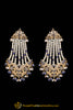 Blue Jadau Pearl Jhumar Earrings By Punjabi Traditional Jewellery