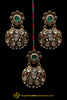 Multi Meena Polki Earring Tikka Set By Punjabi Traditional Jewellery