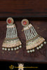 Red Polki Pearl Earrings By Punjabi Traditional Jewellery