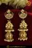 Gold Finished Emerald Kundan Pearl Jhumki Earrings | Punjabi Traditional Jewellery Exclusive