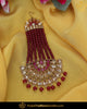 Gold Finished Rubby Pearl Champagne Stone Passa | Punjabi Traditional Jewellery Exclusive