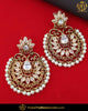 Antique Gold Finished Polki Pearl Earrings | Punjabi Traditional Jewellery Exclusive