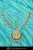 Gold Finished Kundan Pearl Pippal Patti Matha Patti | Punjabi Traditional Jewellery Exclusive